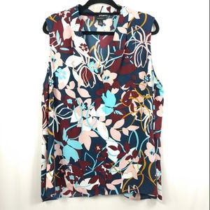 NEW Halogen Floral Sleeveless Top Plus Size
